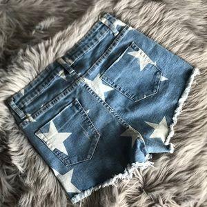 Fashion Nova Shorts - Fashion Nova Star Jean Shorts